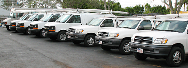 we have a full fleet of emergency response vehicles